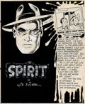Original Comic Art:Splash Pages, Will Eisner The Spirit Planche 1 - 29 janvier 1950 (Register and Tribune Syndicate, 1950)....