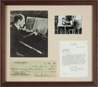 George Gershwin Check Engrossed in His Hand and Signed