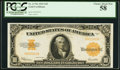 Large Size, Fr. 1173a $10 1922 Gold Certificate PCGS Choice About New 58.. ...