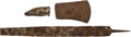 Military & Patriotic:Indian Wars, John Sivertsen: Blacksmith's Rasp, Hammer, and Ax Excavated from the Reno Battlefield. ... (Total: 3 Items)