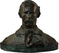 Antiques:Decorative Americana, Bronze Glenwood Swanson, George Armstrong Custer Bust....