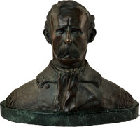 Bronze Glenwood Swanson, George Armstrong Custer Bust