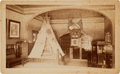 Photography:Cabinet Photos, George Armstrong Custer: A Rare Early Gallery Photo Showing a Display of Custer Relics. ...