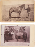 Photography:Cabinet Photos, Comanche: Two Fine Cabinet Photos of Myles Keogh's Legendary Mount. ... (Total: 2 Items)