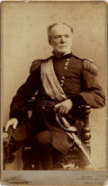 "Photography:Cabinet Photos, William Tecumseh Sherman: A Scarce Large 7.25"" x 12.5"" Cabinet Photo. ..."
