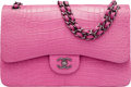 "Luxury Accessories:Bags, Chanel Matte Dark Pink Alligator Jumbo Classic Double Flap Bag with Ruthenium Hardware. Condition: 1. 12"" Width x 8"" H..."