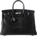 "Luxury Accessories:Bags, Hermes 40cm Shiny Black Niloticus Lizard Birkin Bag with Palladium Hardware. A, 2017. Condition: 1. 15.5"" Width x ..."