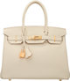 """Hermes 30cm Craie Epsom Leather Birkin Bag with Gold Hardware A, 2017 Condition: 1 12"""" Width x 8"""" Height x 6&q..."""