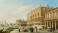 Fine Art - Painting, European:Antique  (Pre 1900), Edward Pritchett (British, 1808-1894). The Doge's Palace, thePiazzetta and the Biblioteca, with Sta Maria della Salute be...