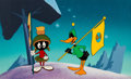 Animation Art:Color Model, Duck Dodgers in the 24½th Century Daffy Duck and Marvin the Martian Color Model Cel on Painted Background (Warner Brot...