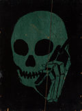 Fine Art - Painting, American:Contemporary   (1950 to present)  , Skullphone (20th century)Untitled (Green an...