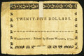 Colonial Notes, North Carolina May 15, 1779 $25 American Fortitude Displayed Fine-Very Fine.. ...