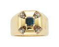Estate Jewelry:Rings, Gentleman's Alexandrite, Diamond, Gold Ring, Gary Ewing. ...