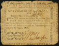 Colonial Notes, North Carolina August 8, 1778 $1/4 Independence Fine.. ...