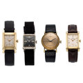Estate Jewelry:Watches, Gold, Gold Plated, Gold-Filled, Stainless Steel Watches. ... (Total: 4 Items)