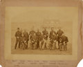 Military & Patriotic:Indian Wars, Headquarters Staff Officers at Fort Spokane, Circa 1880s....