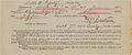Military & Patriotic:Indian Wars, Frederick Benteen: An 1878 7th Cavalry Receipt with a Fine, Bold Black Ink Signature....