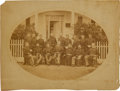 Military & Patriotic:Indian Wars, Generals Sherman and Sully and the Headquarters Staff of the Department of the Missouri, in the Field at Fort Hays, Kansas....