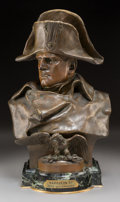 Other, After Renzo Colombo (Italian, 1856-1885). Bust of Napoleon Bonaparte. Bronze with brown patina. 19-1/4 inches high (48.9...