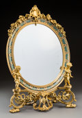 Decorative Arts, French:Other , A Fine French Gilt Bronze and Champleve Figural Dressing MirrorAttributed to Henry Normant, late 19th century. Marks: HN...