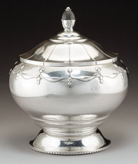 A Danish Arts and Crafts Silver Covered Bowl, circa 1925 Marks: (three towers-25), CFH, (effaced) 11