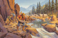 Fine Art - Painting, American:Contemporary   (1950 to present)  , Kerne Erickson (American, 20th Century). Gold Miners, 2013. Acrylic on canvas laid on panel. 24 x 36 inches (61.0 x 91.4...