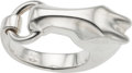 Luxury Accessories:Accessories, Hermes Silver Galop Ring. Condition: 2. Size 54, sizeable. ...