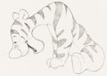 Animation Art:Production Drawing, Winnie the Pooh and Tigger Too Tigger Animation Drawing(Walt Disney, 1974)....