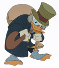 Animation Art:Production Cel, Mickey's Christmas Carol Scrooge McDuck Production Cel (WaltDisney, 1983).... (Total: 2 Items)