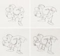 Animation Art:Production Drawing, Snow White and the Seven Dwarfs Grumpy Animation Drawings(Walt Disney, 1937)....