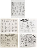 animation art:Model Sheet, Mickey Mouse and Friends Studio Model Sheet Print Group of 21 (Walt Disney, c. 1930s-50s).... (Total: 21 Items)