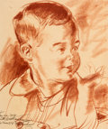 Animation Art:Production Drawing, The Art of Herb Ryman - Child Sketch (1954)....