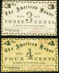 Obsoletes By State:New Hampshire, Manchester, (NH)- American House 3¢; 4¢ Dec. 4, 1863. ... (Total: 2 notes)
