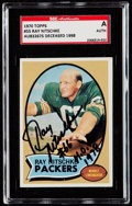 Autographs:Sports Cards, Signed 1970 Topps Ray Nitschke #55 SGC Authentic....