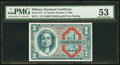 Military Payment Certificates, Series 611 $1 PMG About Uncirculated 53.. ...
