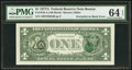 Error Notes:Third Printing on Reverse, Overprint on Back Fr. 1910-A $1 1977A Federal Reserve Note. PMG Choice Uncirculated 64 EPQ.. ...
