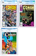Modern Age (1980-Present):Miscellaneous, Conan the Barbarian #229, 237 and 274 CGC-Graded Group (Marvel, 1990-93) White Pages.... (Total: 3 Comic Books)