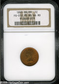 "1893 1C MS66 Red NGC. FS-10.95, Snow-2, ""Scarce."" The 893 in the date is noticeably repunched. A lustrous oran..."
