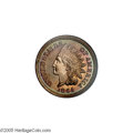 Proof Indian Cents: , 1864 1C Copper-Nickel PR66 NGC. Only 370 proofs were struck of the 1864 Copper-Nickel cent, and it is reliably estimated th...