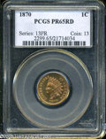 Proof Indian Cents: , 1870 1C PR65 Red PCGS. An enchanting early Gem proof that is almost devoid of surface distractions. Both sides show lime-gr...