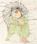 Animation Art:Color Model, Peter Pan Indian Chief Color Model Drawing (Walt Disney, 1953)....