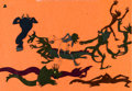 Animation Art:Production Cel, Fantasia Demon Dance Nitrate Production Cel (Walt Disney,1940)....