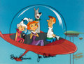 Animation Art:Production Cel, Jetsons: The Movie Production Cel Setup with Master Painted Background (Hanna-Barbera, 1990)....