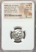 Ancients:Greek, Ancients: IONIAN ISLANDS. Chios. Ca. early 3rd century BC. ARdrachm (4.13 gm). NGC Choice XF4/5 - 3/5....