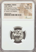 Ancients:Greek, Ancients: CALABRIA. Tarentum. Ca. 272-240 BC. AR stater or didrachm(6.37 gm). NGC XF 3/5 - 4/5....