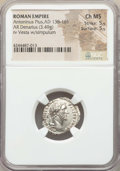 Ancients:Roman Imperial, Ancients: Antoninus Pius (AD 138-161). AR denarius (3.49 gm). NGCChoice MS 5/5 - 5/5. ...