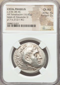 Ancients:Greek, Ancients: LYCIA. Phaselis. Ca. 218-185 BC. AR tetradrachm (16.83gm). NGC Choice AU 4/5 - 3/5....