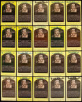 Autographs:Post Cards, Brooks Robinson Signed Hall of Fame Plaque Postcard Collection(37)....