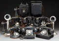 Other, Ten Various Vintage Rotary and Candlestick Phones, circa 1920 and later. 12-1/4 inches high (31.1 cm) (tallest). ... (Total: 10 Items)