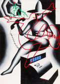 Post-War & Contemporary:Contemporary, Mark Kostabi (American, b. 1960). Interference, 1984. Oil on canvas. 68 x 48 inches (172.7 x 121.9 cm). Signed and dated...